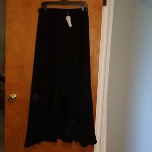 Ruffled Maxi Flair Skirt XL